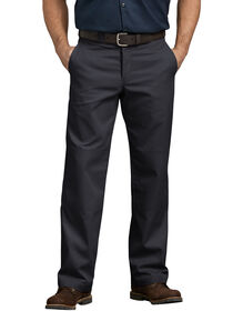 FLEX Relaxed Fit Straight Leg Double Knee Work Pants - BLACK (BK)