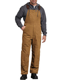 Sanded Duck Insulated Bib Overalls - RINSED BROWN DUCK (RBD)