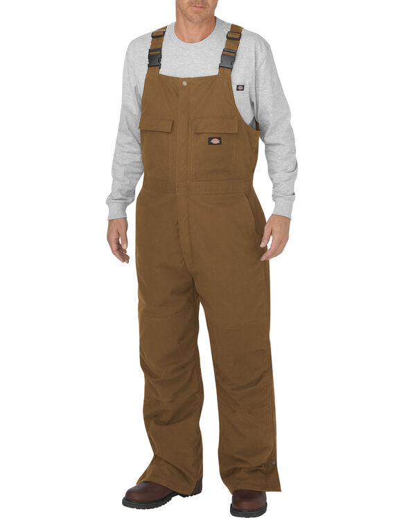 FLEX Sanded Stretch Duck Insulated Bib Overall - BROWN DUCK (BD)