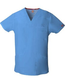 Men's EDS Signature V-Neck Scrub Top - CEIL BLUE (CBL)