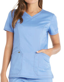 Women's Essence V-Neck Scrub Top - CEIL BLUE (CBL)