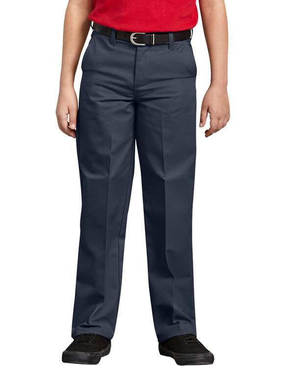 Boys' Classic Fit Straight Leg Flat Front Pant, 8-20 Husky - DARK NAVY (DN)