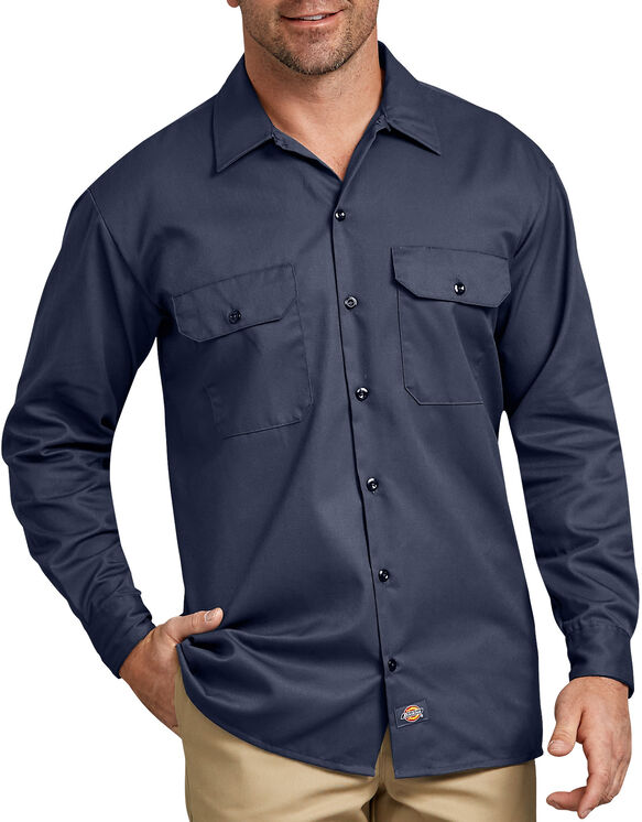 Long Sleeve Work Shirt - NAVY (NV)