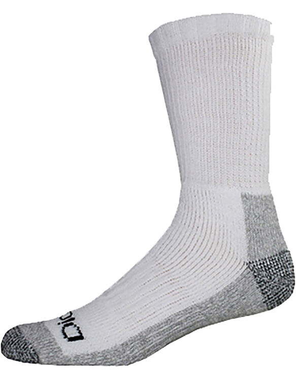 Steel Toe Protector Crew Socks, 2-Pack - WHITE (WH)