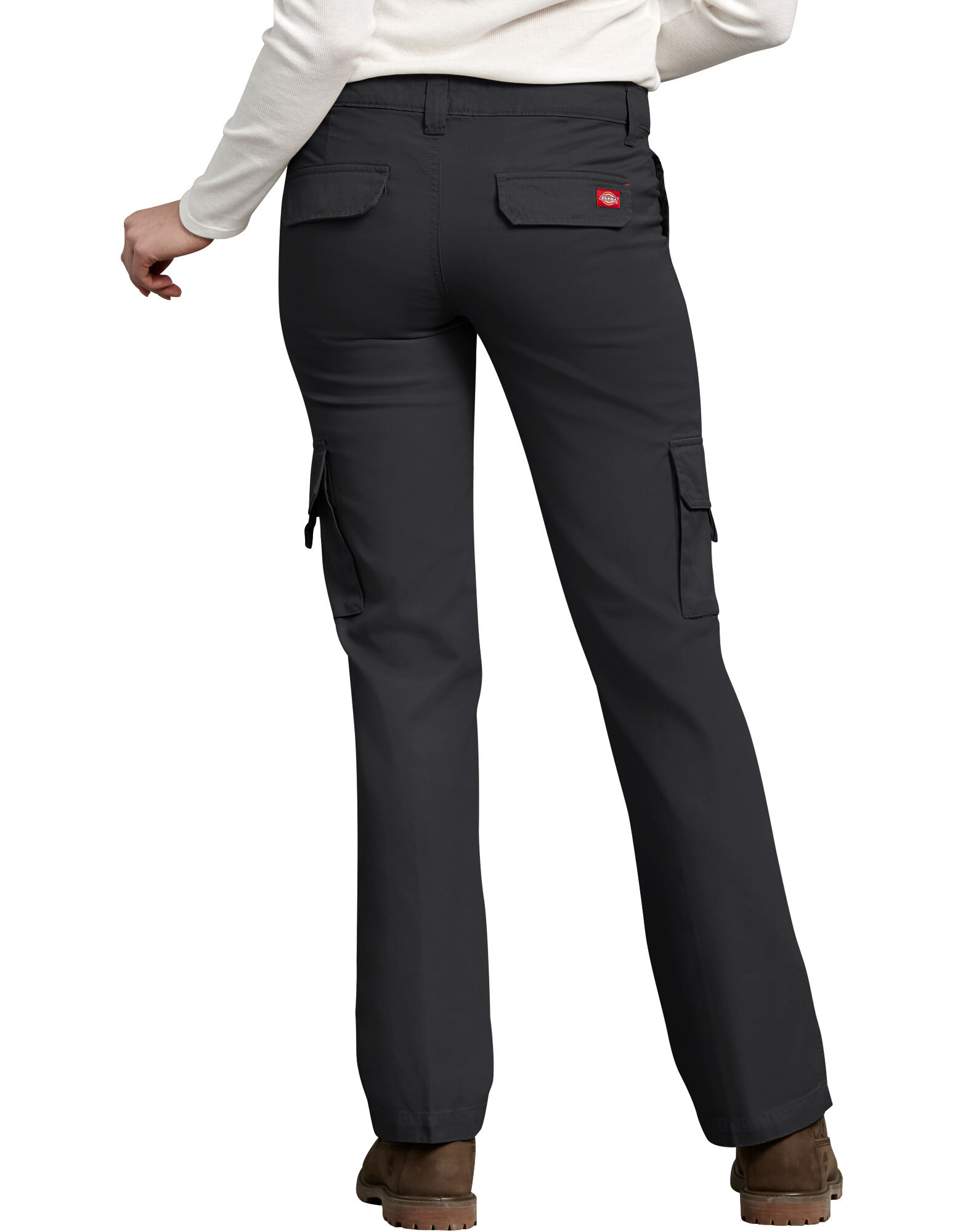 Cool Black Womenu0026#39;s Relaxed Fit Straight Leg Stretch Twill Pants | Dickies