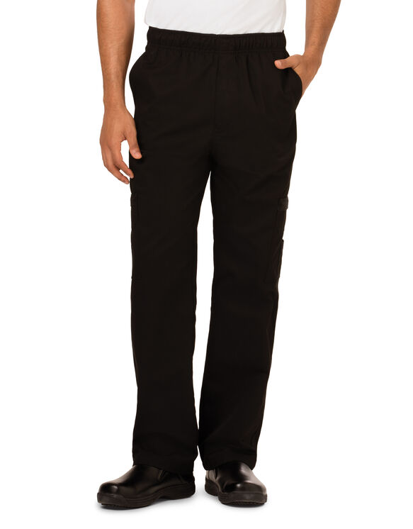 Men's Cargo Pocket Chef Pants - BLACK (BLK)