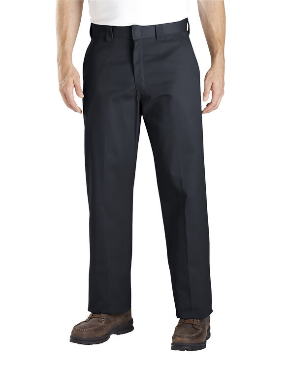 Relaxed Straight Fit Work Pants - BLACK (BK)