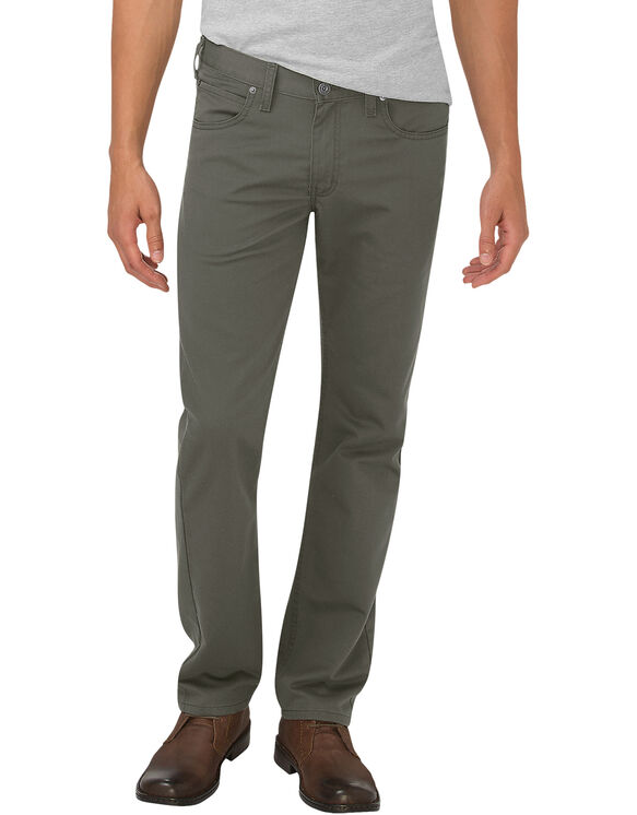 Dickies X-Series Flex Slim Fit Tapered Leg 5-Pocket Pants - STONEWASHED MOSS (SMS)