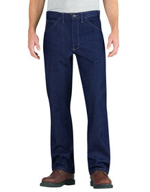 Flame-Resistant Relaxed Fit Straight Leg 5-Pocket Jeans - RINSED INDIGO BLUE (RNB)