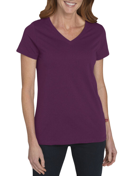 Womens' Short Sleeve V-Neck Tee - CANYON SUNSET (AT)