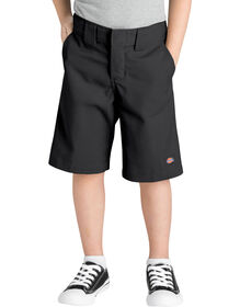 Boys' Relaxed Fit Shorts with Extra Pocket, 4-7 - BLACK (BK)
