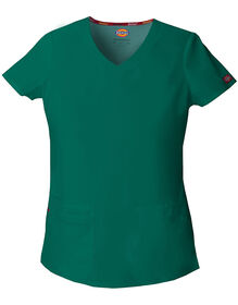 Women's EDS Signature V-Neck Scrub Top - HUNTER (HTR)