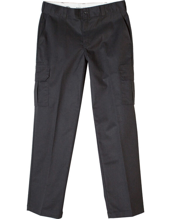 FLEX Regular Fit Straight Leg Cargo Work Pants - BLACK (BK)