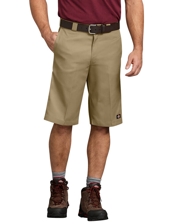 "13"" Relaxed Fit Multi-Pocket Work Shorts - KHAKI (KH)"