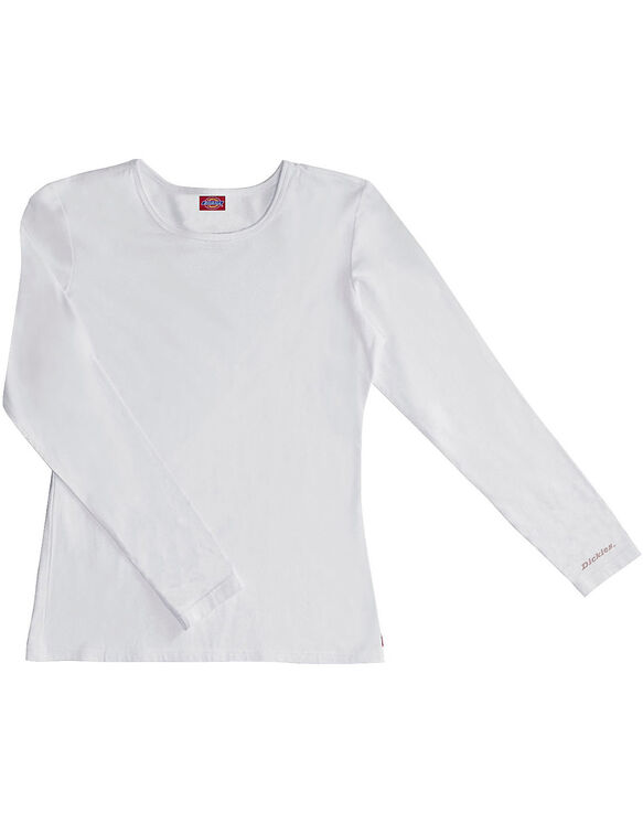 Women's EDS Signature Silky Long Sleeve Crew Neck Tee - DICKIES WHITE (DWH)