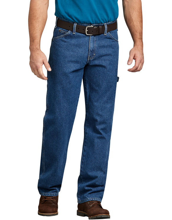 Relaxed Fit Carpenter Denim Jeans - Stonewashed Indigo Blue (SNB)
