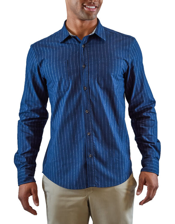 Heritage Long Sleeve Shirt - Rinsed Blue White Stripe (RLW)