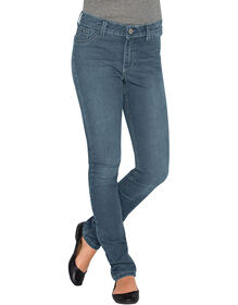 Girls' Super Skinny Fit Denim Jeans, 7-16 - Bleached Stonewashed Blue (BST)