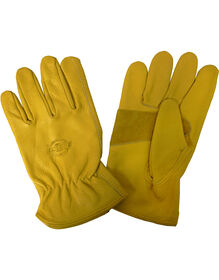 Saddle Grain Cowhide Driver Gloves, Large - Tan (BR)