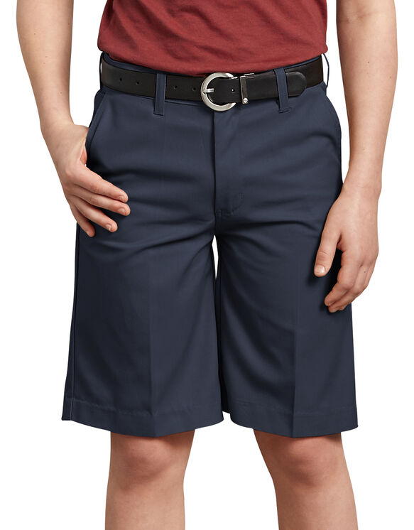 Boys' FlexWaist® Flat Front Shorts, 8-20 Husky - Dark Navy (DN)