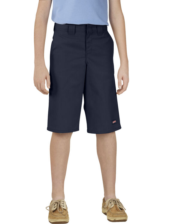 Genuine Dickies Boys' Classic Fit Multi-Use Pocket Shorts, 4-18H - Dark Navy (DN)