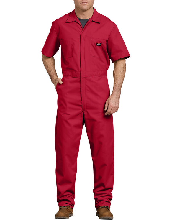 Short Sleeve Coveralls - Red (RD)
