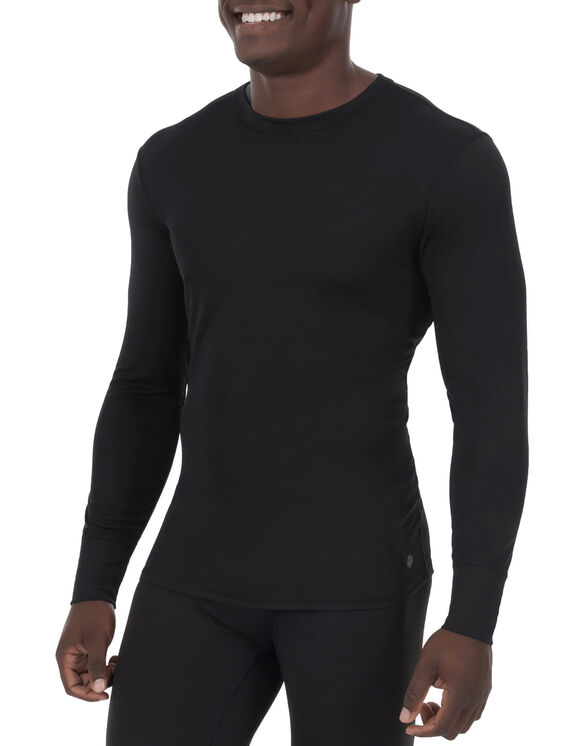 Men's Lightweight Long Johns Thermal Underwear Top - Black (BK)