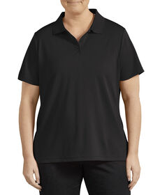 Women's Plus Size Performance Polo - Black (BK)