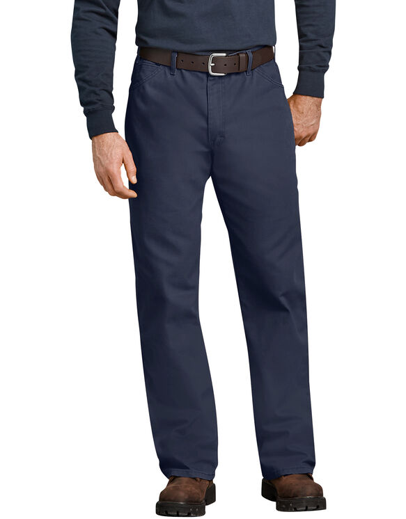Industrial Relaxed Fit Straight Leg Carpenter Duck Jeans - Navy Blue (RNV)