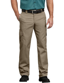 FLEX Regular Fit Straight Leg Cargo Pants - Desert Khaki (DS)