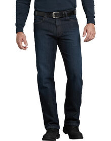 FLEX Regular Fit Straight Leg 5-Pocket Tough Max™ Denim Jeans - Dark Blue Wash (TDW)