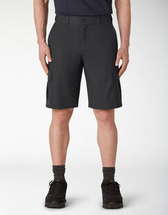 "11"" Cooling Temp-iQ® Active Waist Twill Cargo Shorts - Black (BK)"
