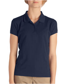 Girls' Short Sleeve Pique Polo Shirt, 4-6 - Dark Navy (DN)