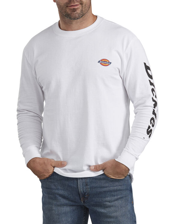 Long-Sleeve Graphic T-Shirt - White (WH)