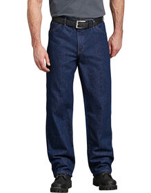 Industrial Relaxed Fit Denim Jeans - Rinsed Indigo Blue (RNB)