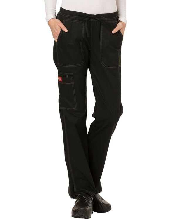 Women's Gen Flex Youtility Straight Leg Scrub Pants - Black (BLK)