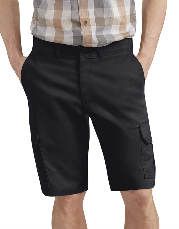 "Dickies X-Series 11"" Active Waist Washed Cargo Shorts - Rinsed Black (RBK)"