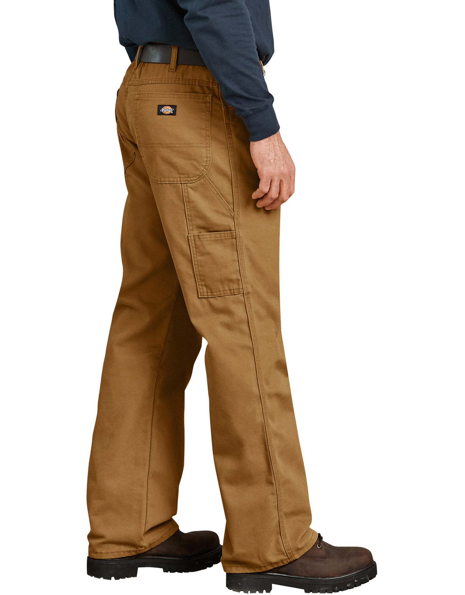 130c76cfd996a ... Industrial Relaxed Fit Straight Leg Carpenter Duck Jeans - Brown Duck  ...