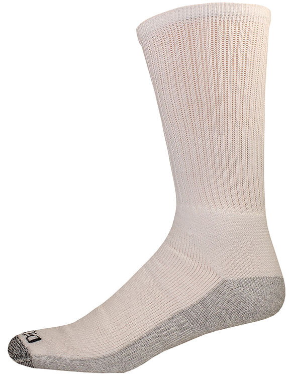 Dri-Tech Comfort Crew Socks, 6-Pack, Size 6-12 - White (WH)