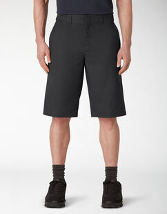 "13"" Cooling Temp-iQ® Active Waist Flat Front Shorts - Black (BK)"