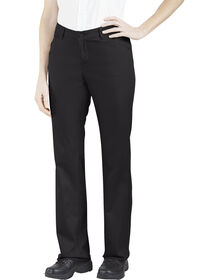 Genuine Dickies Women's Relaxed Straight Stretch Twill Pants - BLACK (BK)