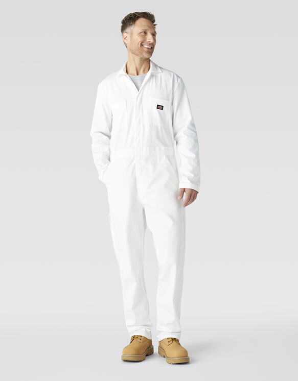 Cotton Long Sleeve Coveralls - White (WH)
