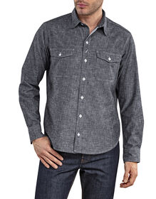 Dickies 1922 Long Sleeve Chambray Shirt with Pocket Flaps - Rinsed Black (RBK)