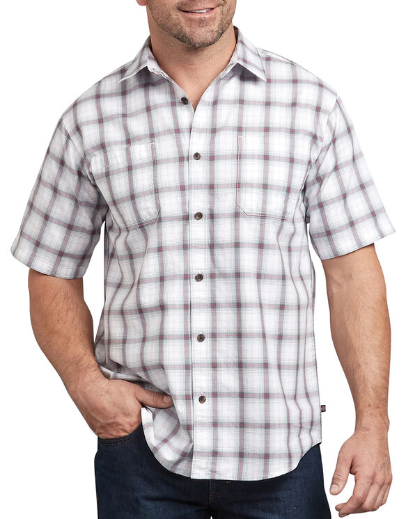 Icon Relaxed Fit Yarn Dyed Plaid Shirt - Gray White Plaid (SWGW)