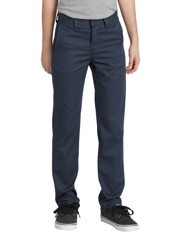 Boys' FLEX Slim Fit Taper Leg Flex Pants - Dark Navy (DN)