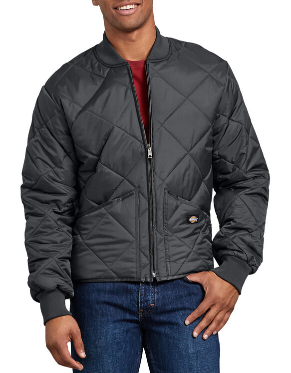 Diamond Quilted Nylon Jacket - Charcoal Gray (CH)