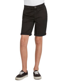 Boys' FLEX Skinny Fit Chino Shorts - Black (BK)