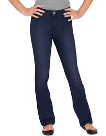 Girls' Slim Fit Bootcut Denim Jeans, 7-16 - Rinsed Indigo Blue (RNB)