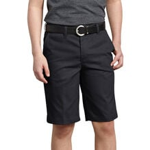 Boys' FlexWaist® Classic Fit Ultimate Khaki Shorts, 8-20 Husky - Black (BK)