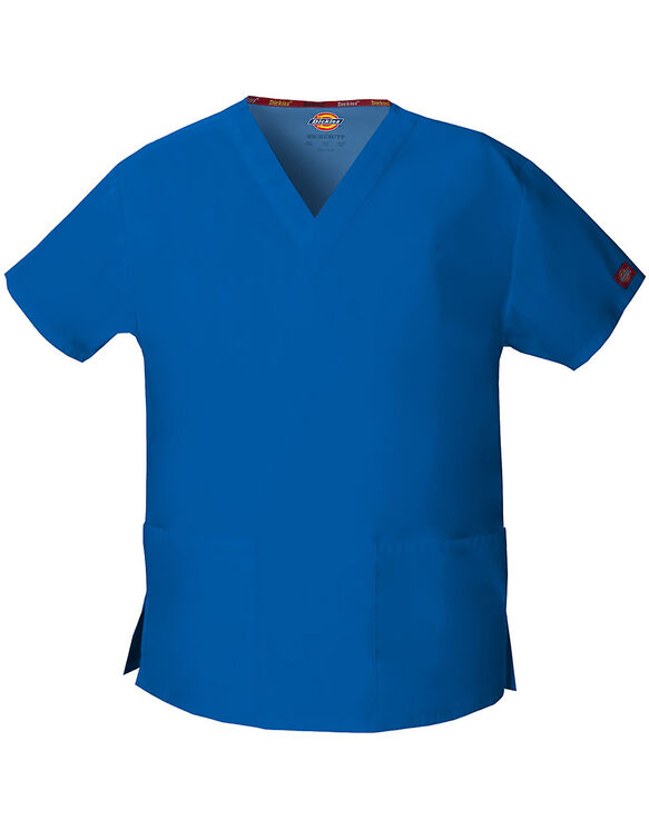 Women's EDS Signature V-Neck Scrub Top - Royal Blue (RB)